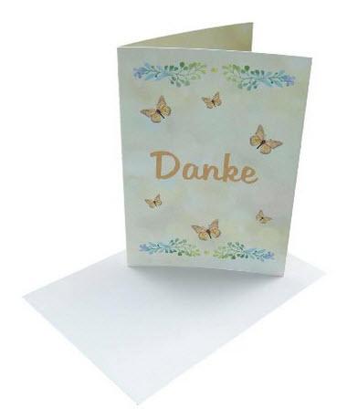 Dankeskarten Schmetterlinge