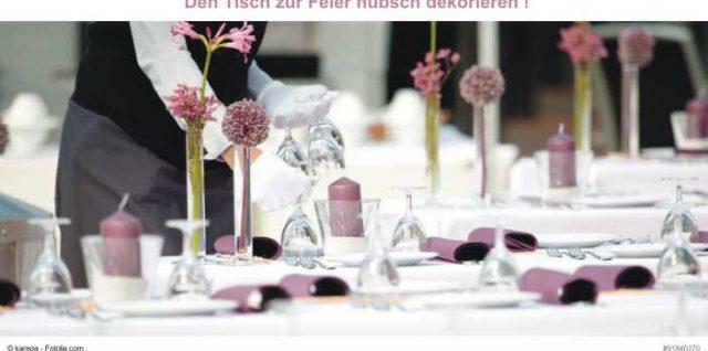 Tisch dekorieren